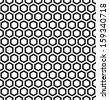 Honeycomb pattern. Seamless hexagons texture. Vector art. - stock vector