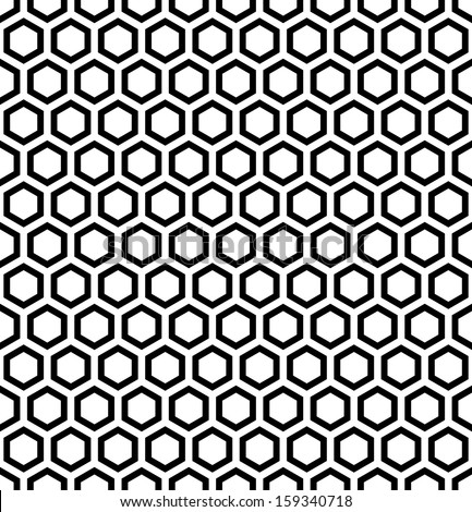 Honeycomb pattern. Seamless hexagons texture. Vector art. - stock vector