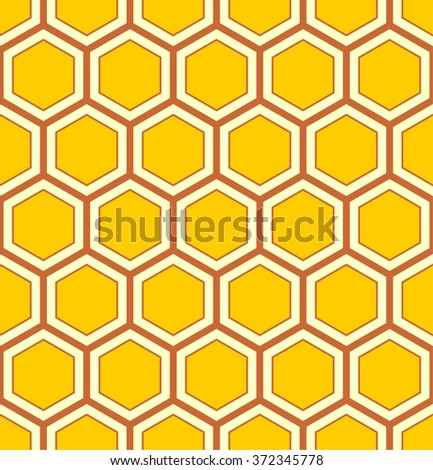 Honeycomb pattern vector, hexagons pattern, abstract geometric pattern - stock vector