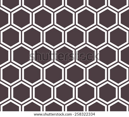 Honeycomb seamless pattern. Abstract geometric background - stock vector