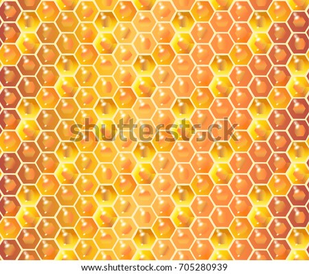 honeycomb seamless pattern honey realistic background. Black Bedroom Furniture Sets. Home Design Ideas