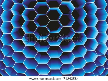 Honeycomb. Vector.