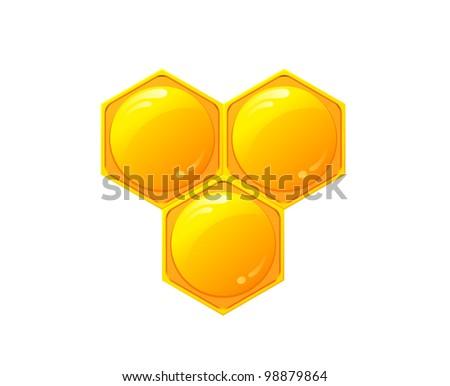Honeycomb vector - stock vector