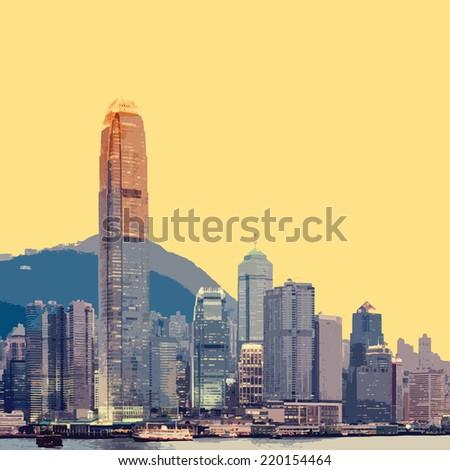 Hong Kong city : eps.10  - stock vector