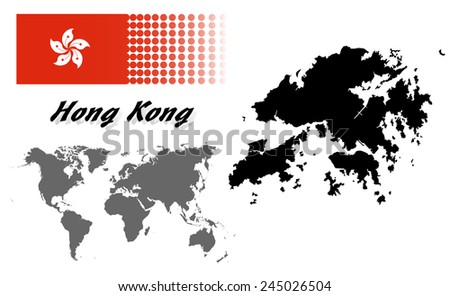 Dot style hong kong map flag vectores en stock 396700465 shutterstock hong kong info graphic with flag location in world map mapeps10 gumiabroncs Gallery