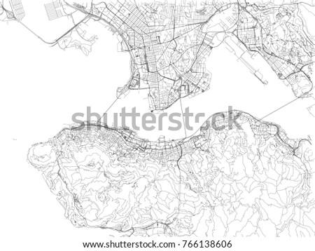 Hong kong roads city map china stock vector 2018 766138606 hong kong roads city map china streets gumiabroncs Gallery
