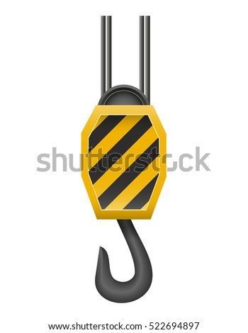 hook a crane for lifting goods vector illustration isolated on white background