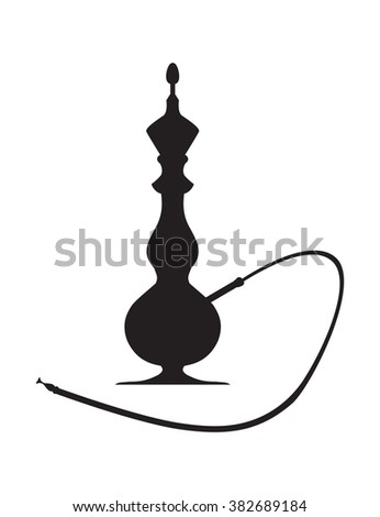 hookah silhouette on a white background