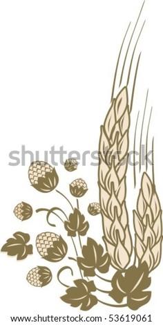 Hop&Cereals - stock vector