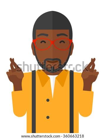 Hopeful an african-american man. - stock vector