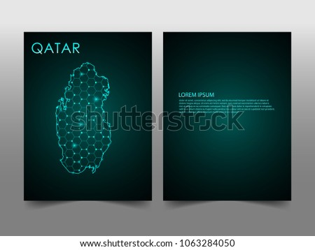 Horizontal banners template qatar map sphere stock vector 1063284050 horizontal banners template with qatar map sphere vector illustration abstract business card vector template with reheart Image collections