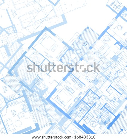 Horizontal Blueprint. Vector - stock vector