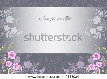 horizontal card on a gray background - stock vector