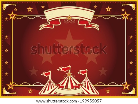 Horizontal circus background for a poster. Ideal for your publicity