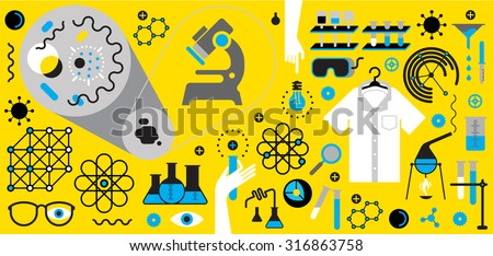 Horizontal composition with chemistry symbols.
