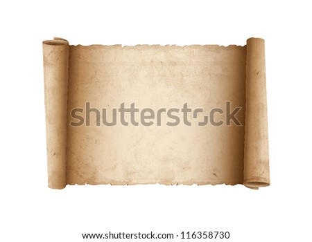 Horizontal Old Scroll paper. Vector eps10 - stock vector