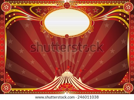 Horizontal Red circus background. An horizontal circus background for your show. - stock vector