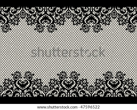 horizontal seamless background from a floral ornament - stock vector
