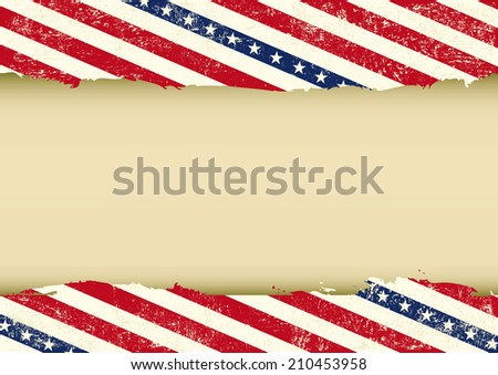 Horizontal USA dirty background. A horizontal  american background for your event (ideal for a screen) - stock vector