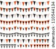 horizontally seamless halloween bunting pack, isolated on white - stock vector