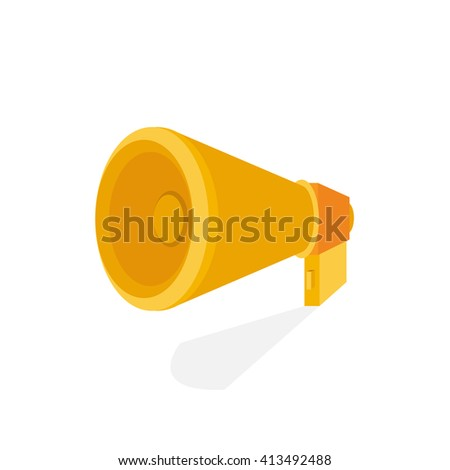 Horn Icon isolated on a white background. Logo design template - stock vector