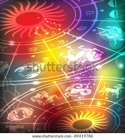 Horoscope background - stock vector