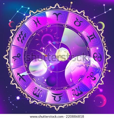 Horoscope circle - stock vector