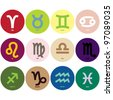 Horoscope signs - symbols - stock photo