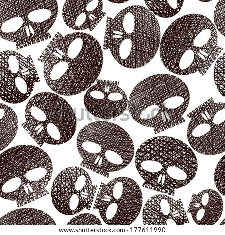 Seamless Pattern Horror And Hard Rock Theme Repeating Background
