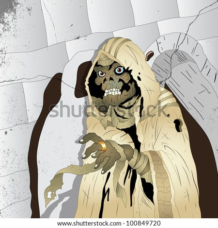 Horror Mummy - stock vector