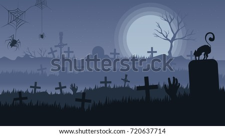 Halloween Graveyard Stock Images, Royalty-Free Images & Vectors ...