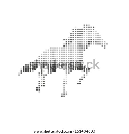 Horse abstract isolated on a white backgrounds. Vector illustration - stock vector