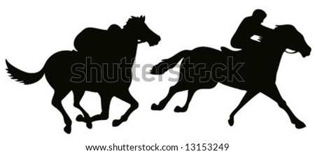 Horse and ride silhouette