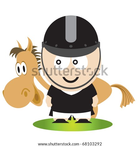 Horse and rider - stock vector