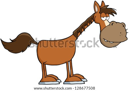 Horse Cartoon Mascot Character - stock vector