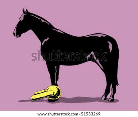horse clamp. - stock vector