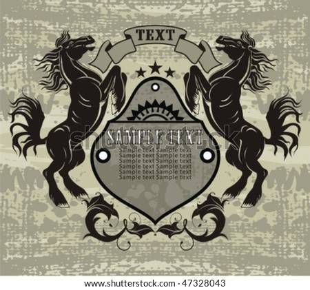 horse gifts - stock vector