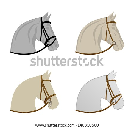 Horse harness - stock vector