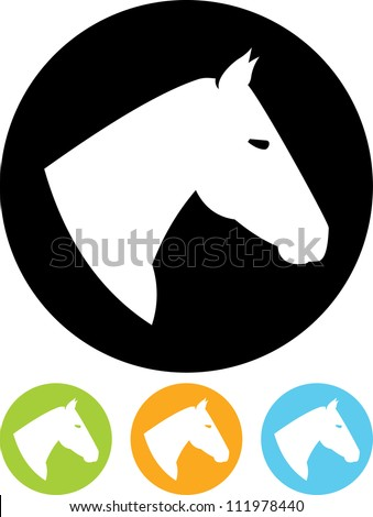 Horse head - Vector icon isolated - stock vector