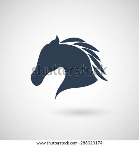 Horse head - vector illustration - stock vector