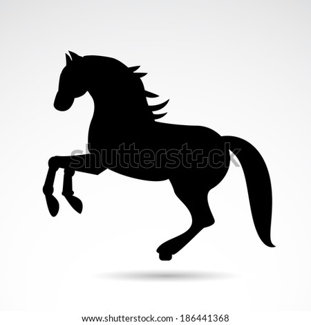 Horse icon isolated on white background. Vector illustration. - stock vector