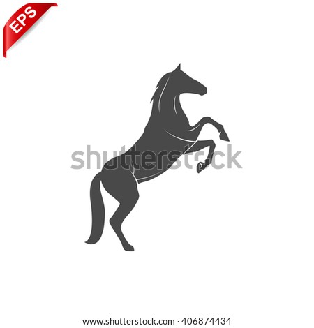 horse icon, vector horse silhouette, isolated horse sign