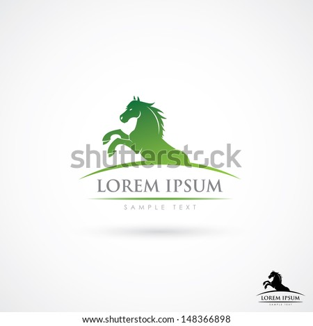 Horse label - vector illustration - stock vector