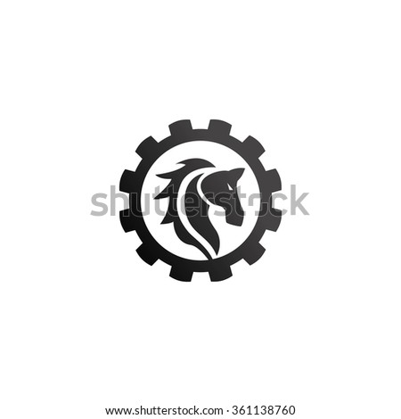 Horse Logo Template - stock vector
