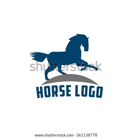Jumping horse logo yellow