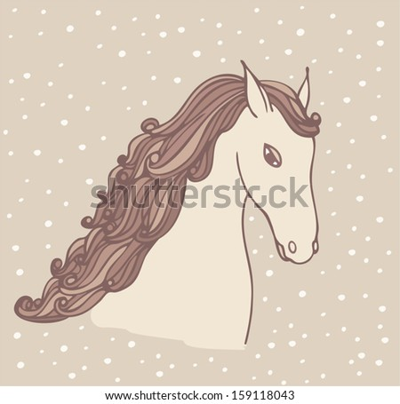 horse, new year card