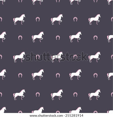horse pattern - stock vector