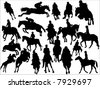 horse race - stock vector