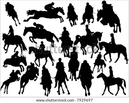 horse race - stock vector