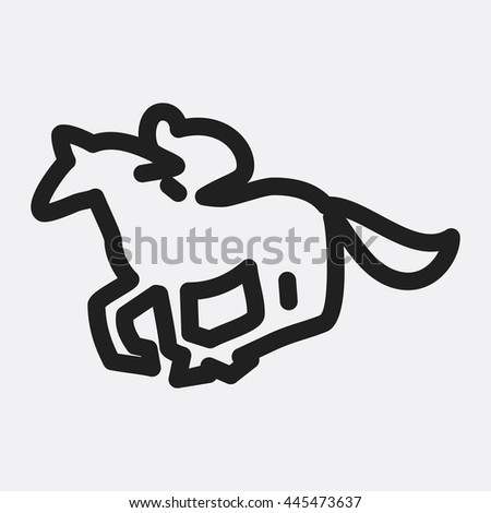 Horse ricing icon illustration isolated vector sign symbol